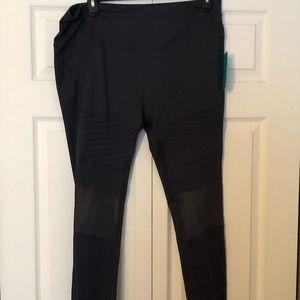 NWT MTA Sport Gray Workout Leggings Size 2x
